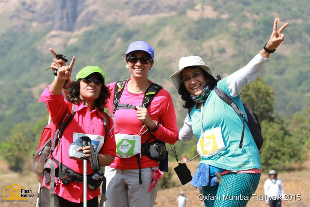 100 Km accomplished.-Anitha with her team at Oxfam trailwalker