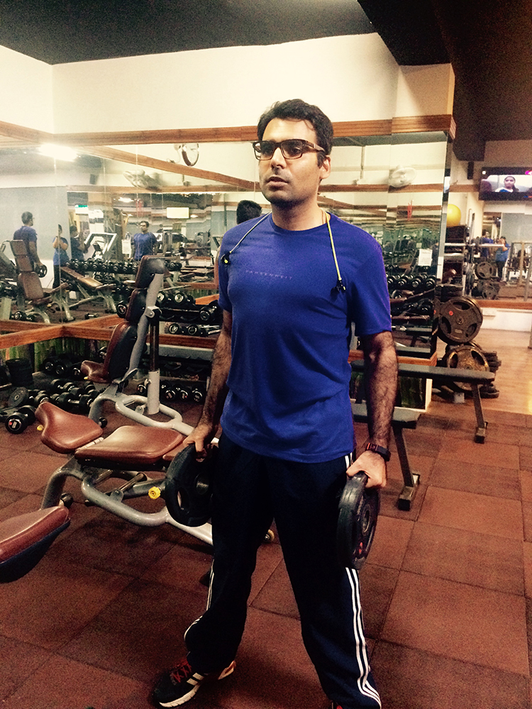 Gaurav working out in the Gym - Copy