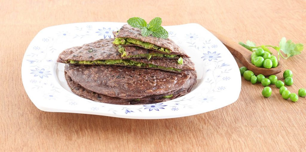 vegetable stuffed ragi paratha