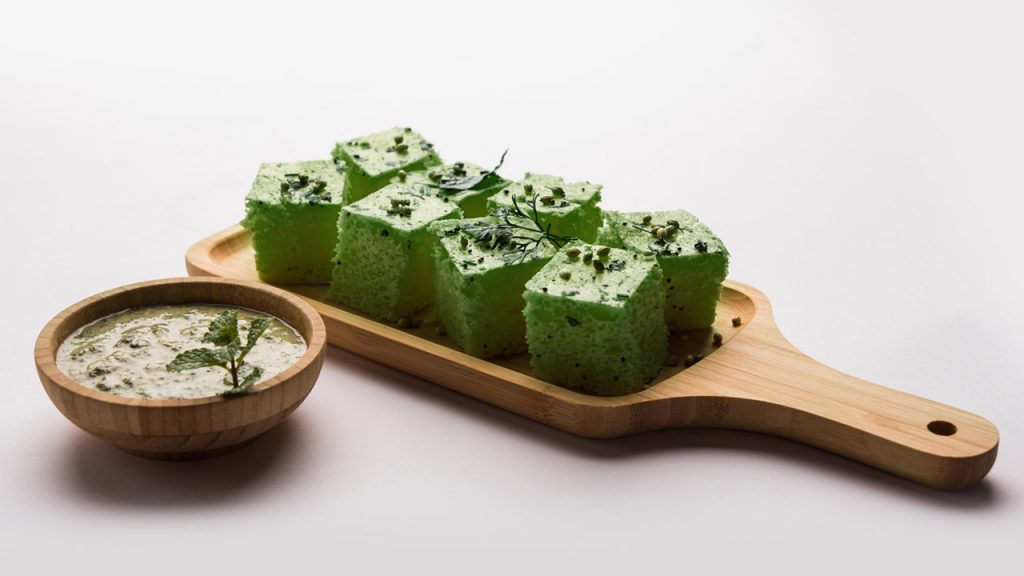 oats spinach dhokla