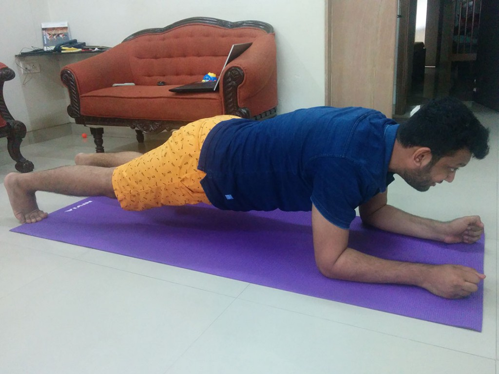 Jigar working out at home
