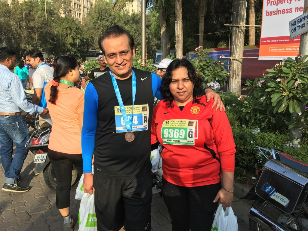 Running Together-Sudhir and his wife.