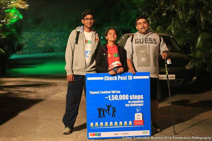 Sense of accomplaihment -Gagan on the right with his team mates successfully having completed his first 100 Km Trail walk