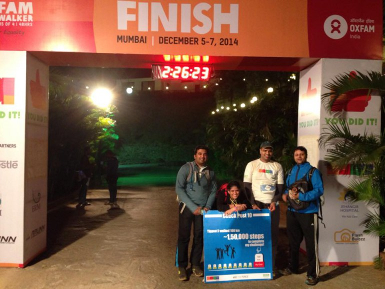 feeling triumphant-successfully completed 1st 100 Kms Trailwalk