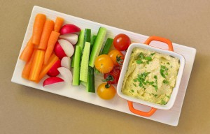 hummus-raw-vegetables