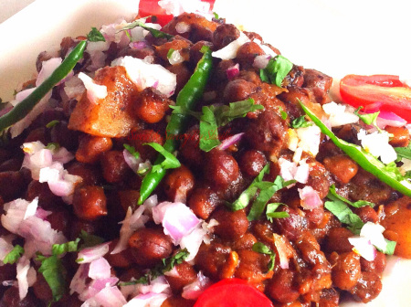boiled chana salad