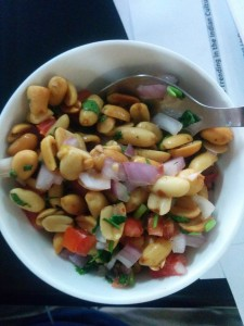 peanut chaat