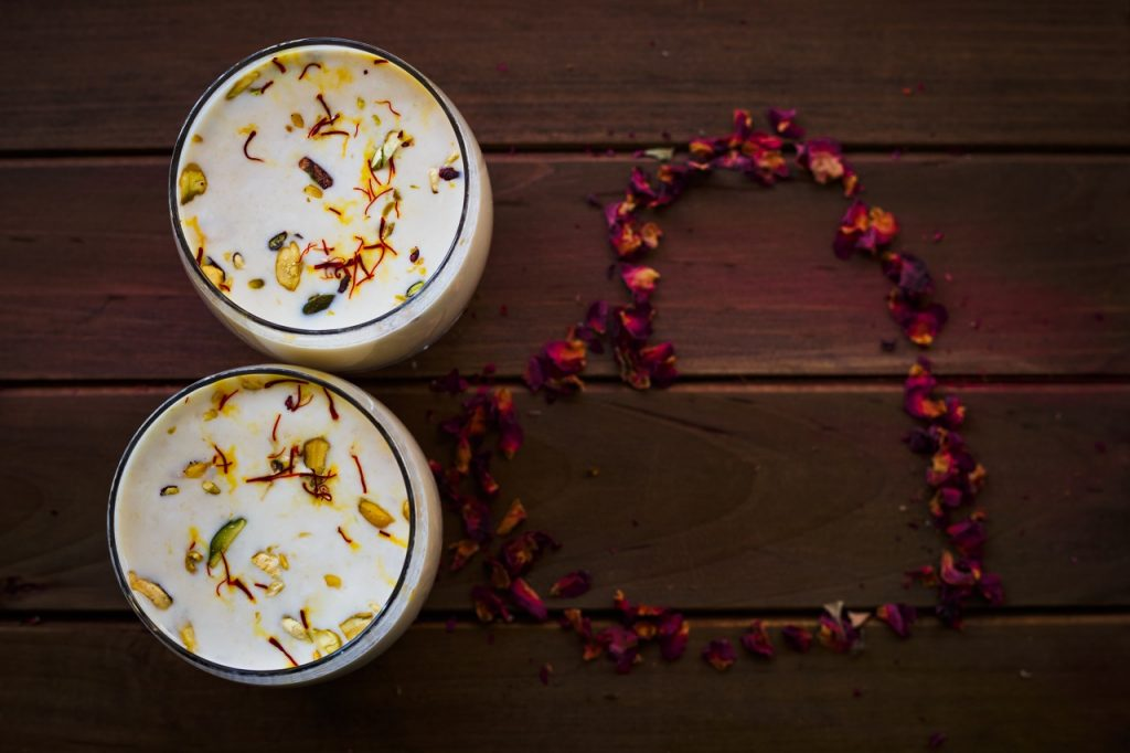 homemade rose thandai