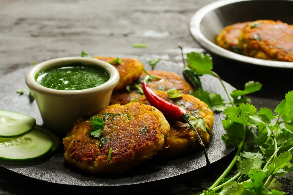 sweet potato and chickpea tikki