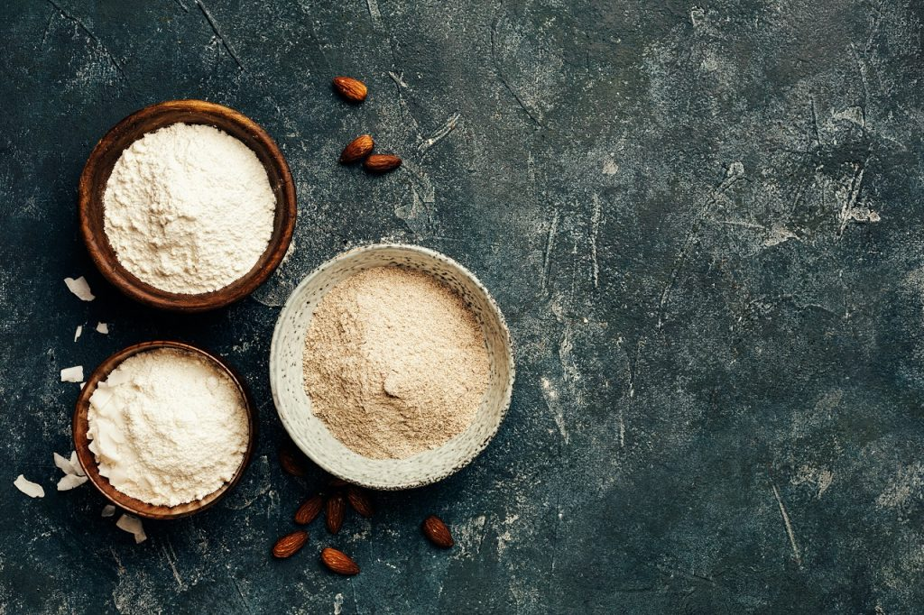 coconut, wheat or almond flour