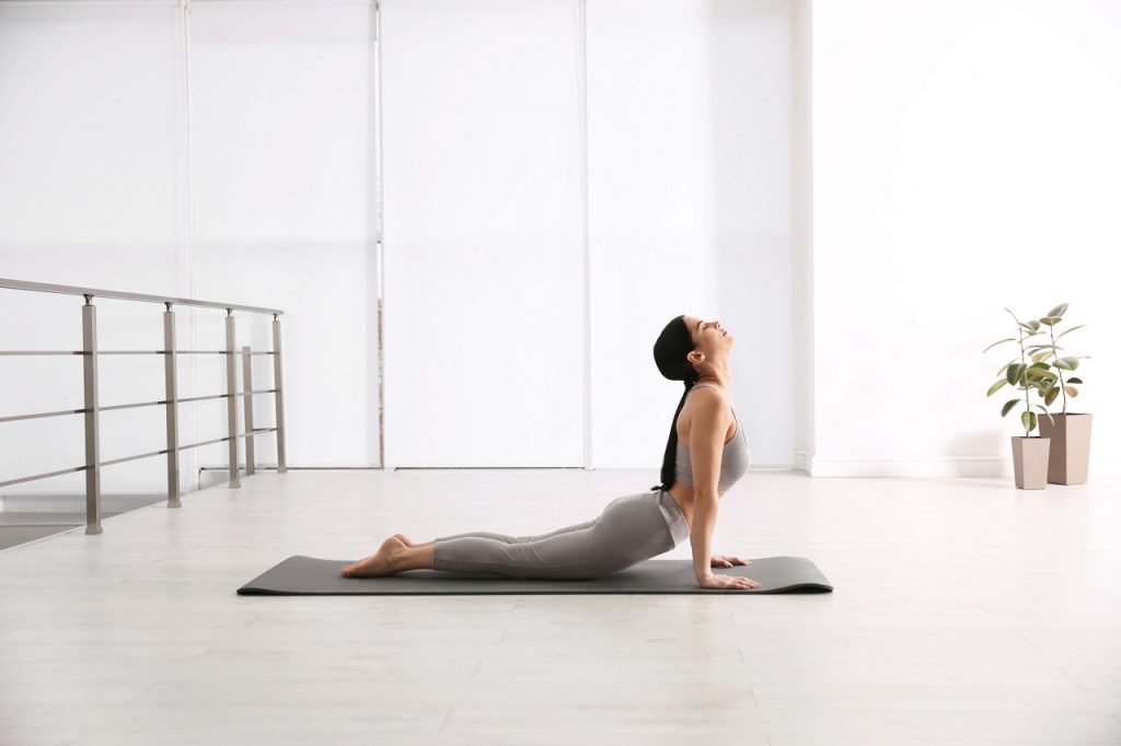 Reclining back bend
