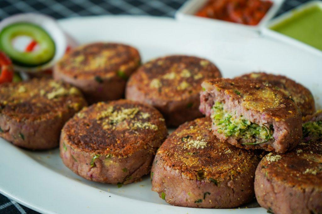 sweet potato sprouts tikki