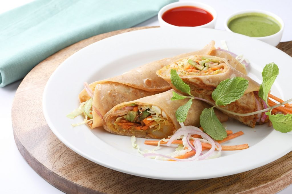Vegetable and Paneer Kathi Roll